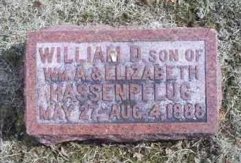 HASSENPFLUG, WILLIAM D. - Ross County, Ohio   WILLIAM D. HASSENPFLUG - Ohio Gravestone Photos