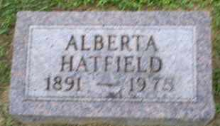 HATFIELD, ALBERTA - Ross County, Ohio | ALBERTA HATFIELD - Ohio Gravestone Photos