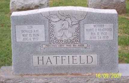 BRADFORD HATFIELD, MARIE O. - Ross County, Ohio | MARIE O. BRADFORD HATFIELD - Ohio Gravestone Photos