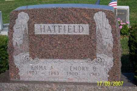 HATFIELD, EMMA A. - Ross County, Ohio | EMMA A. HATFIELD - Ohio Gravestone Photos