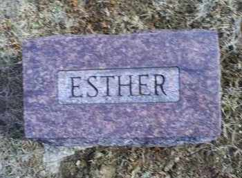 HAUSER, ESTHER - Ross County, Ohio | ESTHER HAUSER - Ohio Gravestone Photos