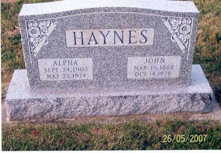 HAYNES, JOHN - Ross County, Ohio | JOHN HAYNES - Ohio Gravestone Photos