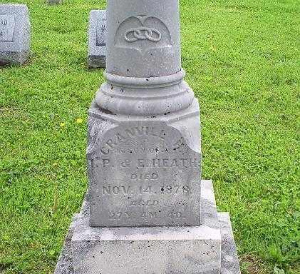 HEATH, GRANVILLE H. - Ross County, Ohio | GRANVILLE H. HEATH - Ohio Gravestone Photos