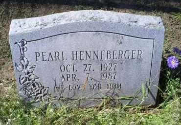 HENNEBERGER, PEARL - Ross County, Ohio   PEARL HENNEBERGER - Ohio Gravestone Photos