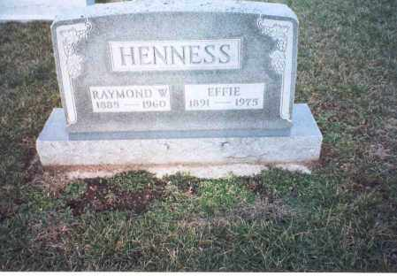 BYERS HENNESS, EFFIE ZORA - Ross County, Ohio | EFFIE ZORA BYERS HENNESS - Ohio Gravestone Photos