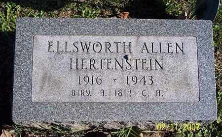 HERTENSTEIN, ELLSWORTH ALLEN - Ross County, Ohio | ELLSWORTH ALLEN HERTENSTEIN - Ohio Gravestone Photos