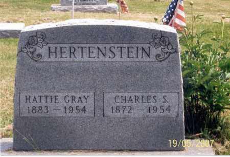 HERTENSTEIN, CHARLES S. - Ross County, Ohio   CHARLES S. HERTENSTEIN - Ohio Gravestone Photos