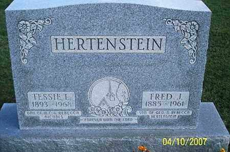 HERTENSTEIN, FRED J. - Ross County, Ohio | FRED J. HERTENSTEIN - Ohio Gravestone Photos