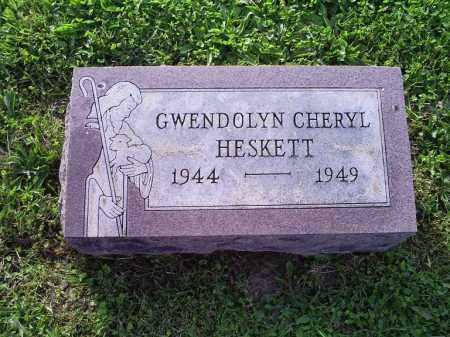 HESKETT, GWENDOLYN CHERYL - Ross County, Ohio   GWENDOLYN CHERYL HESKETT - Ohio Gravestone Photos