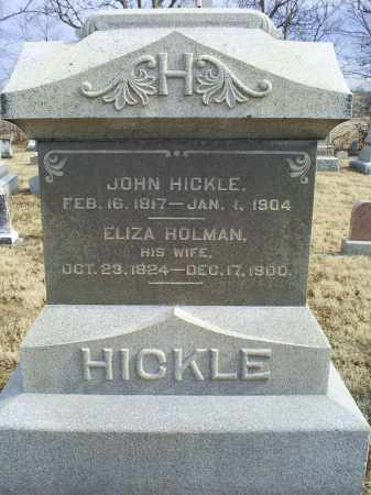 HOLMAN HICKLE, ELIZA - Ross County, Ohio | ELIZA HOLMAN HICKLE - Ohio Gravestone Photos