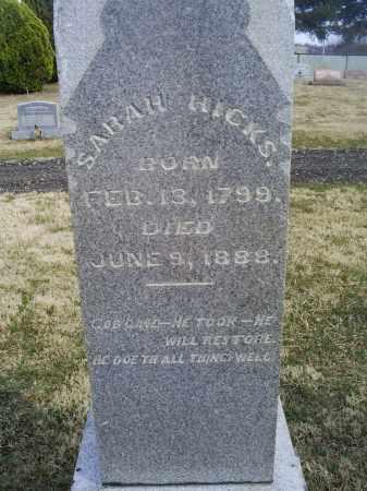 HICKS, SARAH - Ross County, Ohio | SARAH HICKS - Ohio Gravestone Photos