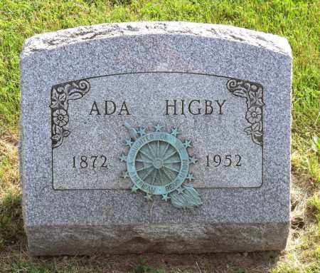 HIGBY, ADA AMANDA - Ross County, Ohio   ADA AMANDA HIGBY - Ohio Gravestone Photos