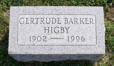 BARKER HIGBY, GERTRUDE - Ross County, Ohio | GERTRUDE BARKER HIGBY - Ohio Gravestone Photos
