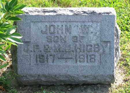 HIGBY, JOHN W. - Ross County, Ohio | JOHN W. HIGBY - Ohio Gravestone Photos
