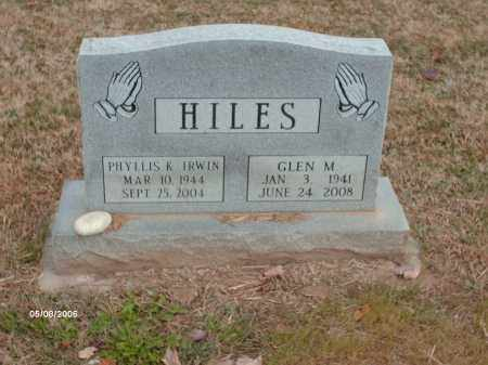 IRWIN HILES, PHYLLIS K. - Ross County, Ohio | PHYLLIS K. IRWIN HILES - Ohio Gravestone Photos