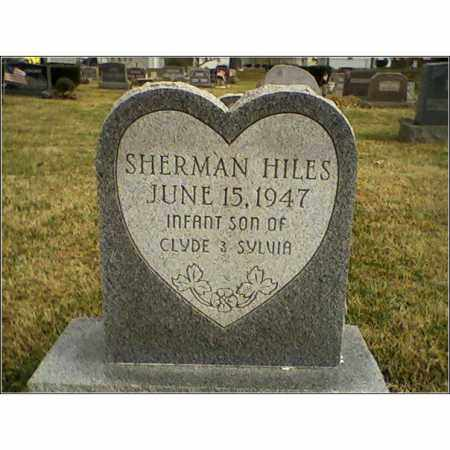 HILES, SHERMAN - Ross County, Ohio | SHERMAN HILES - Ohio Gravestone Photos