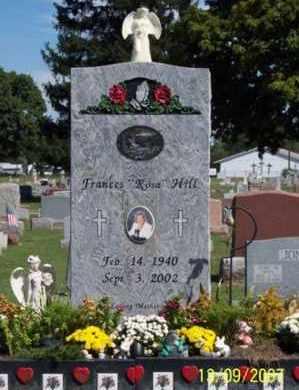 "HILL, FRANCES  ""ROSA"" - Ross County, Ohio | FRANCES  ""ROSA"" HILL - Ohio Gravestone Photos"