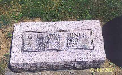 HINES, G. GLADYS - Ross County, Ohio | G. GLADYS HINES - Ohio Gravestone Photos