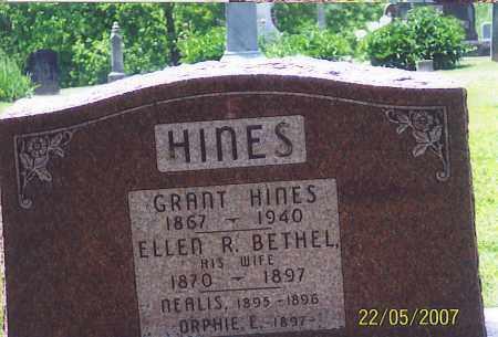 HINES, GRANT - Ross County, Ohio   GRANT HINES - Ohio Gravestone Photos