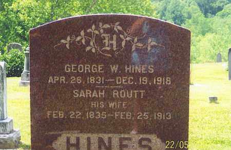ROUTT HINES, SARAH - Ross County, Ohio | SARAH ROUTT HINES - Ohio Gravestone Photos