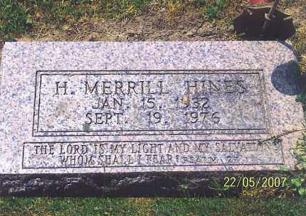 HINES, H. MERRILL - Ross County, Ohio | H. MERRILL HINES - Ohio Gravestone Photos