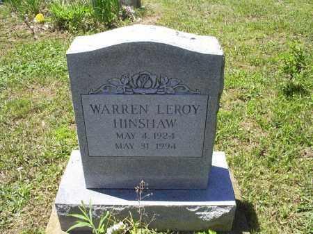 HINSHAW, WARREN LEROY - Ross County, Ohio | WARREN LEROY HINSHAW - Ohio Gravestone Photos