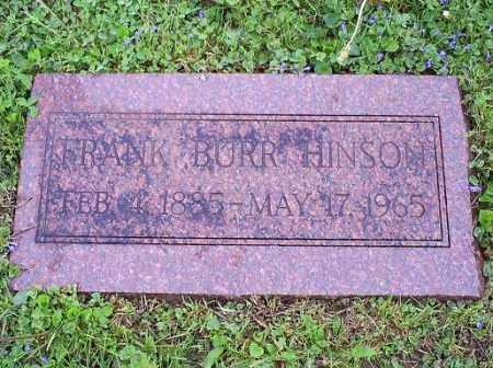 HINSON, FRANK BURR - Ross County, Ohio | FRANK BURR HINSON - Ohio Gravestone Photos