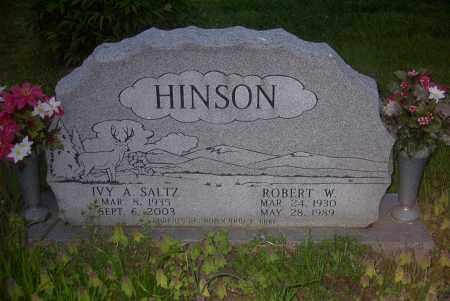 HINSON, IVY A. - Ross County, Ohio | IVY A. HINSON - Ohio Gravestone Photos