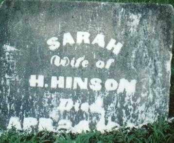 HINSON, SARAH - Ross County, Ohio | SARAH HINSON - Ohio Gravestone Photos