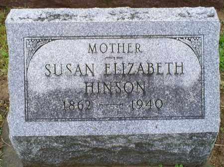 HINSON, SUSAN ELIZABETH - Ross County, Ohio   SUSAN ELIZABETH HINSON - Ohio Gravestone Photos