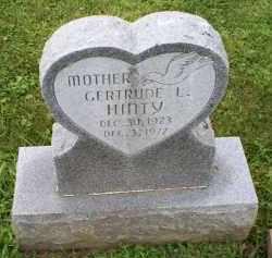 HINTY, GERTRUDE L. - Ross County, Ohio | GERTRUDE L. HINTY - Ohio Gravestone Photos