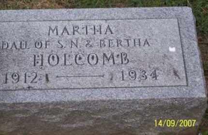 HOLCOMB, MARTHA - Ross County, Ohio | MARTHA HOLCOMB - Ohio Gravestone Photos