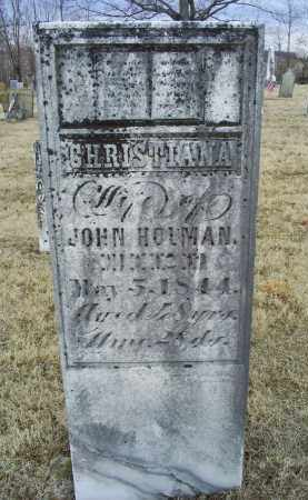 HOLMAN, CHRISTIANA - Ross County, Ohio   CHRISTIANA HOLMAN - Ohio Gravestone Photos