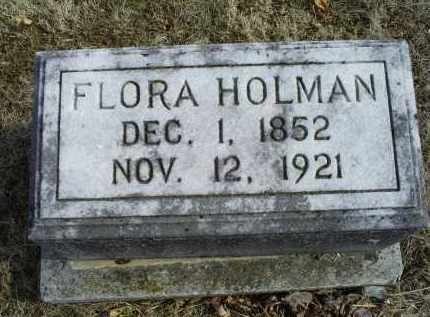 HOLMAN, FLORA - Ross County, Ohio | FLORA HOLMAN - Ohio Gravestone Photos