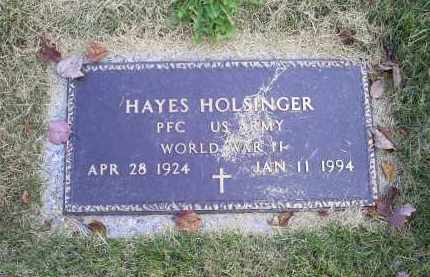 HOLSINGER, HAYES - Ross County, Ohio | HAYES HOLSINGER - Ohio Gravestone Photos