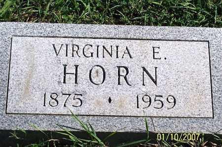 HORN, VIRGINIA E. - Ross County, Ohio | VIRGINIA E. HORN - Ohio Gravestone Photos