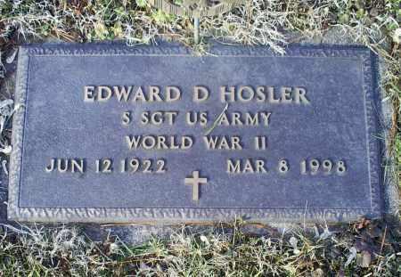HOSLER, EDWARD D. - Ross County, Ohio | EDWARD D. HOSLER - Ohio Gravestone Photos