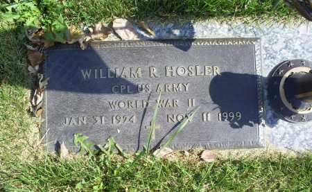 HOSLER, WILLIAM R. - Ross County, Ohio | WILLIAM R. HOSLER - Ohio Gravestone Photos