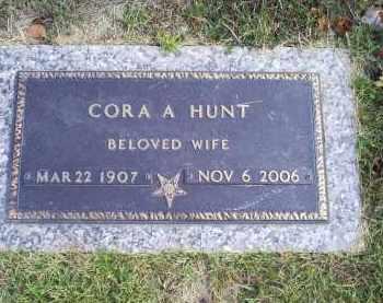 HUNT, CORA A. - Ross County, Ohio | CORA A. HUNT - Ohio Gravestone Photos