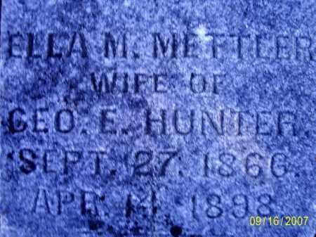 METTLER HUNTER, ELLA MAY - Ross County, Ohio | ELLA MAY METTLER HUNTER - Ohio Gravestone Photos