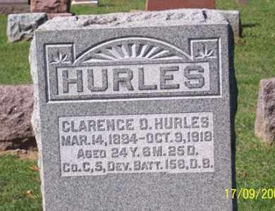 HURLES, CLARENCE D. - Ross County, Ohio   CLARENCE D. HURLES - Ohio Gravestone Photos