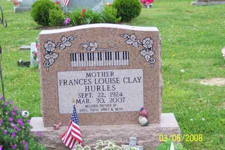 CLAY HURLES, FRANCES LOUISE - Ross County, Ohio | FRANCES LOUISE CLAY HURLES - Ohio Gravestone Photos