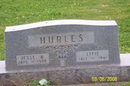 HURLES, EFFIE - Ross County, Ohio | EFFIE HURLES - Ohio Gravestone Photos