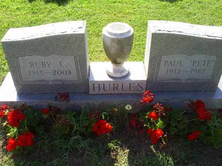 "HURLES, PAUL ""PETE"" - Ross County, Ohio | PAUL ""PETE"" HURLES - Ohio Gravestone Photos"