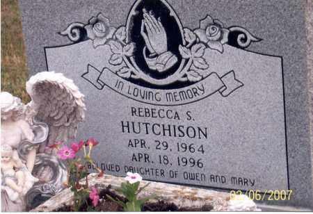 HUTCHISON, REBECCA S. - Ross County, Ohio | REBECCA S. HUTCHISON - Ohio Gravestone Photos