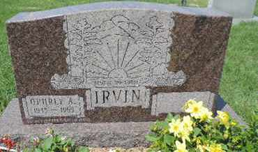 IRVIN, OPHRLY A - Ross County, Ohio | OPHRLY A IRVIN - Ohio Gravestone Photos