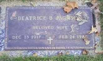 JACKSON, BEATRICE B. - Ross County, Ohio   BEATRICE B. JACKSON - Ohio Gravestone Photos