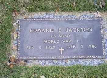 JACKSON, EDWARD E. - Ross County, Ohio | EDWARD E. JACKSON - Ohio Gravestone Photos