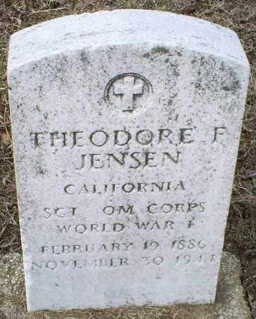 JENSEN, THEODORE F. - Ross County, Ohio   THEODORE F. JENSEN - Ohio Gravestone Photos