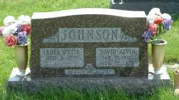 JOHNSON, DAVID ALVIN - Ross County, Ohio | DAVID ALVIN JOHNSON - Ohio Gravestone Photos